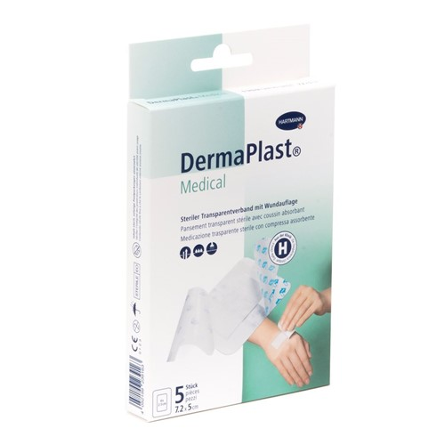 Bild von DermaPlast Medical Transparentverband 7.2x5cm 5 Stk